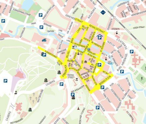 parkeren plattegrond